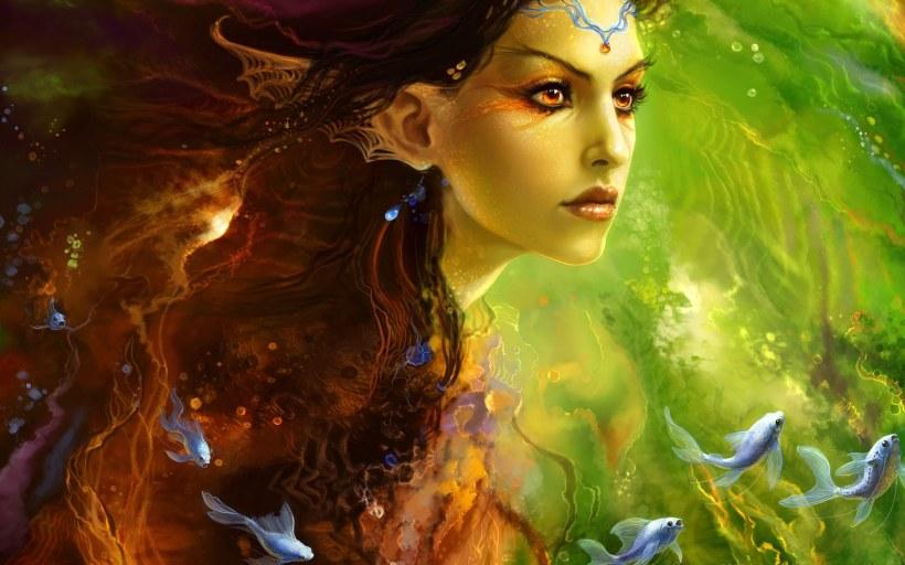 ws_Fantasy_girl_-_Siren_princess_1920x1200