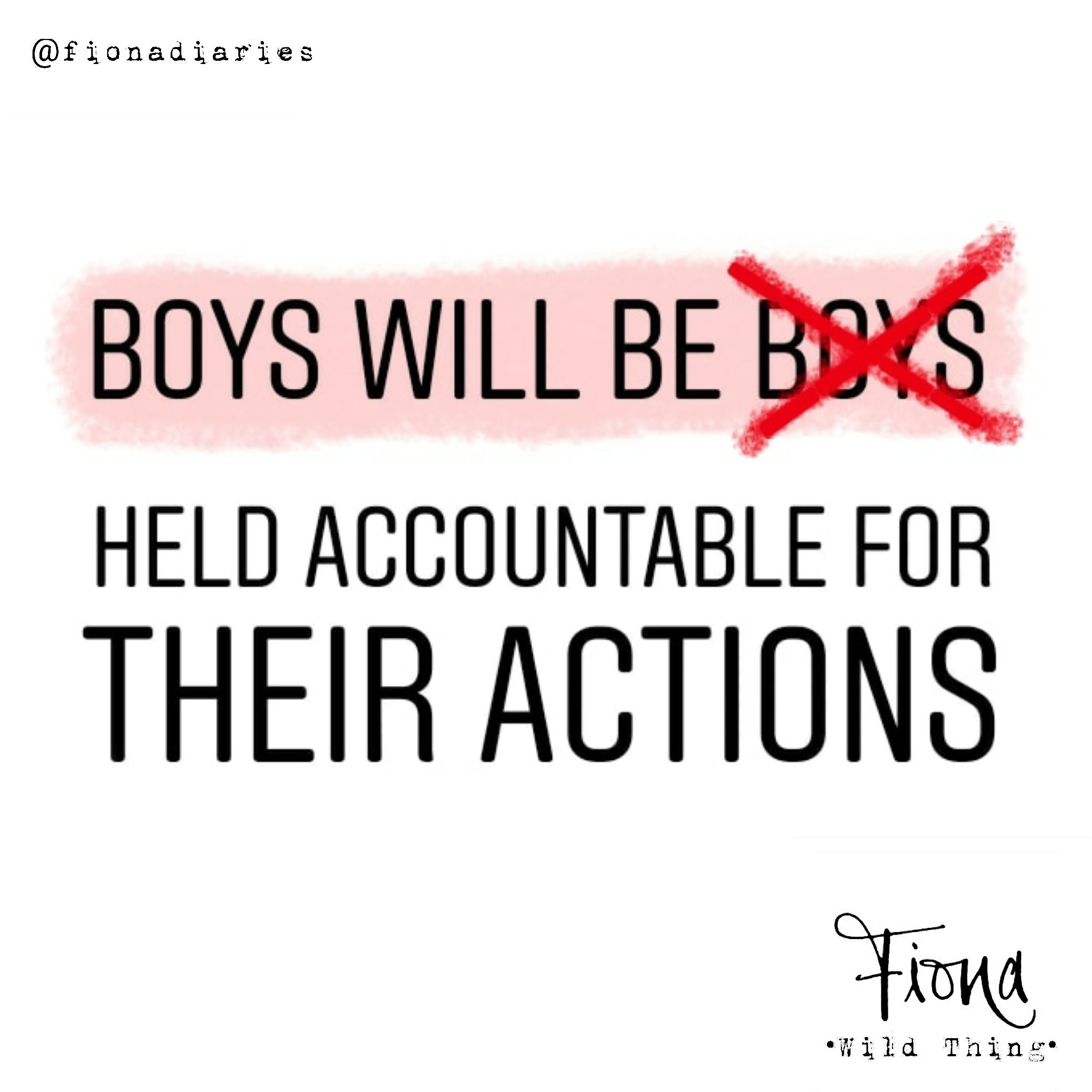 Boys will be…